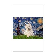 Starry Night/Westie Mini Poster Print