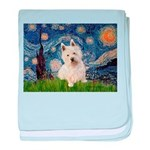 Starry Night/Westie baby blanket