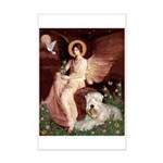 Seated Angel & Wheaten Mini Poster Print