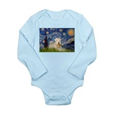 Starry / Wheaten T #1 Long Sleeve Infant Bodysuit
