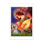 Mandolin Angel & Yorkie (T) Mini Poster Print