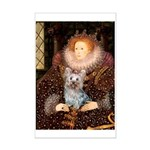 The Queen's Yorkie (T) Mini Poster Print