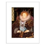 The Queen's Yorkie (T) Small Poster