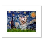 Starry Night Yorkie (T) Small Poster