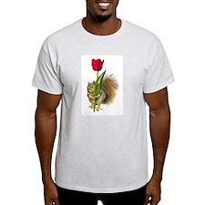 Squirrel Red Tulip T-Shirt