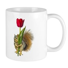 Squirrel Red Tulip Coffee Mug