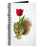 Squirrel Red Tulip Journal