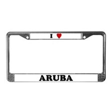I Love Aruba License Plate Frame