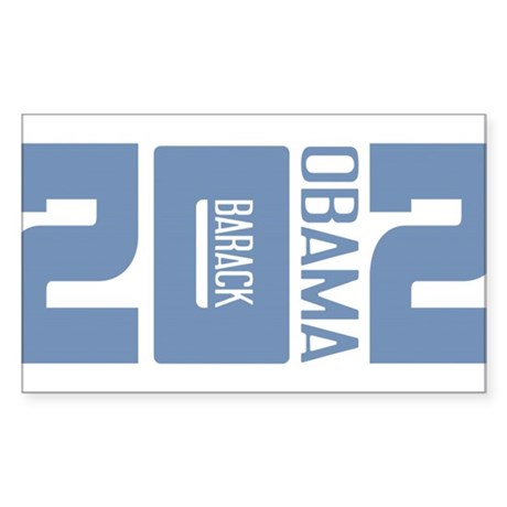 Barack Obama 2012 Sticker (Rectangle)