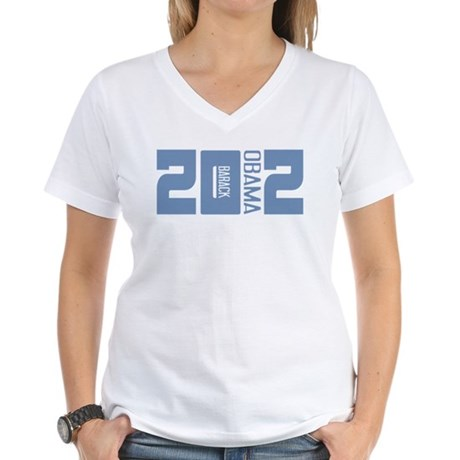 Barack Obama 2012 Women's V-Neck T-Shirt