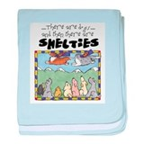 Super Shelties baby blanket