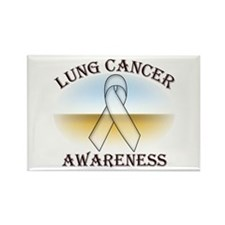 Lung Cancer Rectangle Magnet (10 pack)
