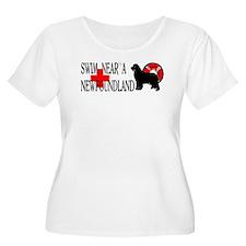 Swim Near A Newfoundland T-Shirt