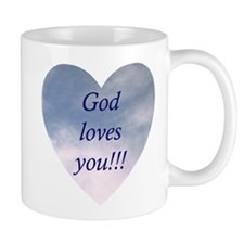 """God Loves You"" Coffee Mug"