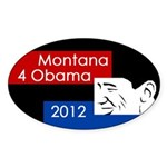 Montana 4 Obama 2012 bumper sticker