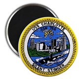 USS Charlotte SSN 766 Magnet