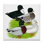 Call Duck Quartet Tile Coaster