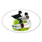 Call Duck Quartet Sticker (Oval 50 pk)