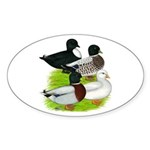 Call Duck Quartet Sticker (Oval 10 pk)