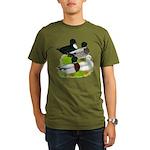 Call Duck Quartet Organic Men's T-Shirt (dark)