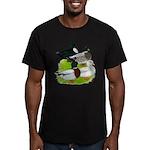 Call Duck Quartet Men's Fitted T-Shirt (dark)