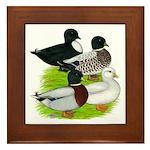 Call Duck Quartet Framed Tile