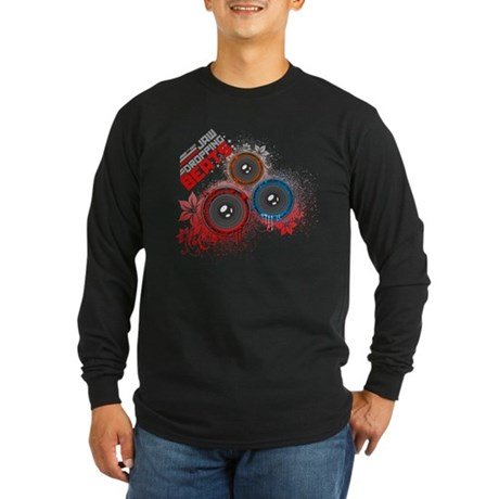 Jaw Dropping Beats Long Sleeve Dark T-Shirt