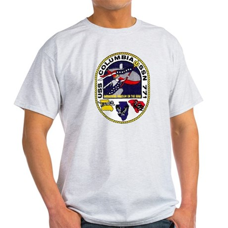 USS Columbia SSN 771 Ash Grey T-Shirt