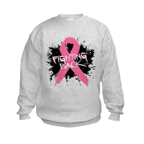Fighting Back Breast Cancer Kids Sweatshirt
