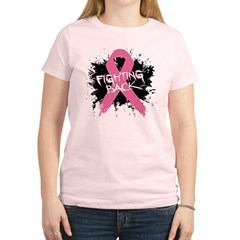 Fighting Back Breast Cancer Women's Light T-Shirt