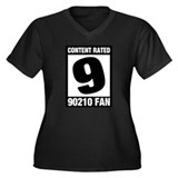 90210 Fan Women's Plus Size V-Neck Dark T-Shirt