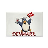 Denmark Penguin Rectangle Magnet (10 pack)