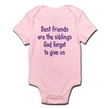 God and Best Friends Infant Bodysuit