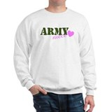 Army Niece Green &amp; Heart Sweatshirt