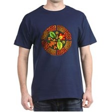 Celtic Autumn Leaves Black T-Shirt