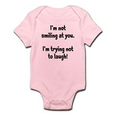Trying Not to Laugh Infant Bodysuit