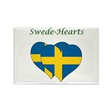 Swede Hearts Rectangle Magnet (10 pack)