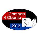 Campers for Obama 2012 bumper sticker
