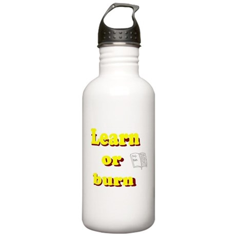 Learn or burn Stainless Water Bottle 1.0L