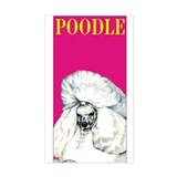 Pink Pop Poodle Decal