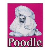 Pink Pop Poodle Throw Blanket