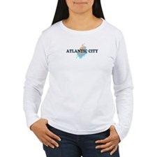 Atlantic City NJ - Seashells Design. T-Shirt