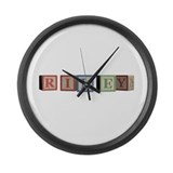 Riley Alphabet Block Large Wall Clock