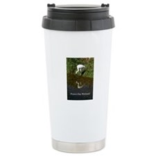 Whooping Crane Ceramic Travel Mug
