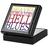 Heaven Purgatory Hell Blues Keepsake Box