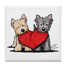 Cairn Terrier Heartfelt Duo Tile Coaster