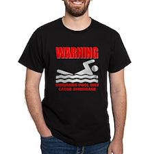 Warning Swimming Pool Shrinkage Seinfield T-Shirt