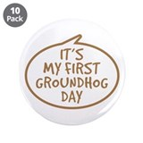 "Baby's First Groundhog Day 3.5"" Button (10 pack)"
