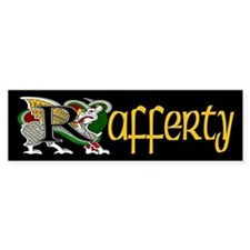 Rafferty Celtic Dragon Bumper Bumper Sticker
