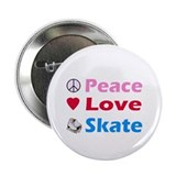 "Peace Love Skate 2.25"" Button"